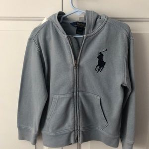 Polo size 3 hooded sweatshirt excellent cond
